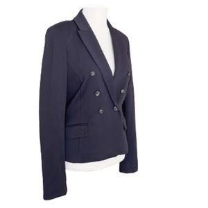 MaxMara Weekend Navy Blue Jersey Blazer Large